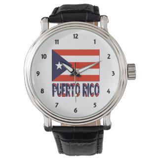 Puerto Rican flagga och Pureto Rico Armbandsur
