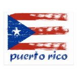 Puerto rican flaggadesign vykort