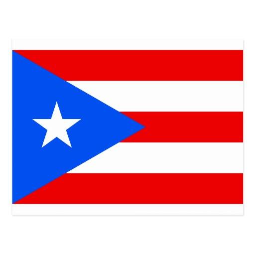 Puerto Rican flaggaprodukter Vykort