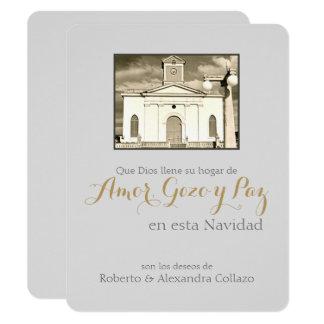 Puerto Rican jul: Katolsk domkyrka 10,8 X 14 Cm Inbjudningskort