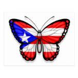 Puerto Rico fjärilsflagga Vykort
