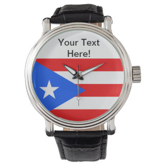 Puerto Rico flagga Armbandsur