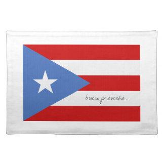 Puerto Rico flagga Bordstablett
