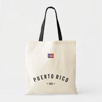 Puerto Rico flagga Budget Tygkasse
