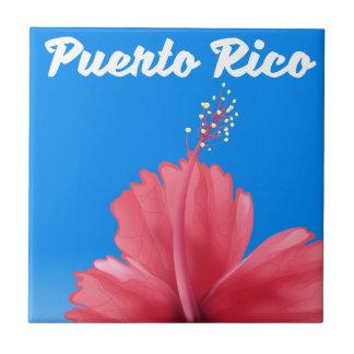 Puerto Rico Flor de maga reser affischen Kakelplatta