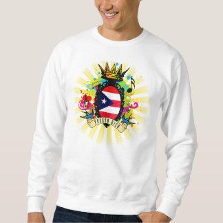 Puerto Rico grundläggande tröja, vit Lång Ärmad Tröja