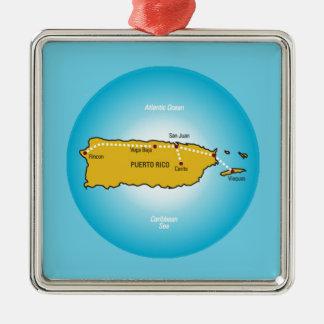 Puerto Rico Julgransprydnad Metall