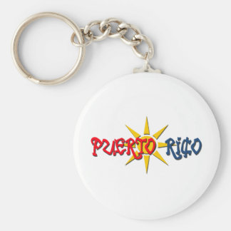 Puerto Rico Rund Nyckelring