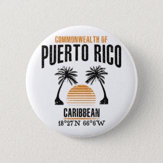 Puerto Rico Standard Knapp Rund 5.7 Cm