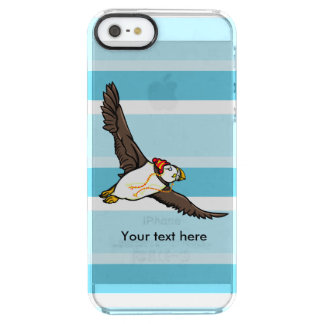 Puffin som ha på sig en hatt en stucken hatt clear iPhone SE/5/5s skal