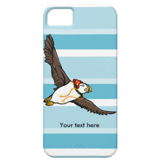 Puffin som ha på sig en hatt en stucken hatt iPhone 5 cover