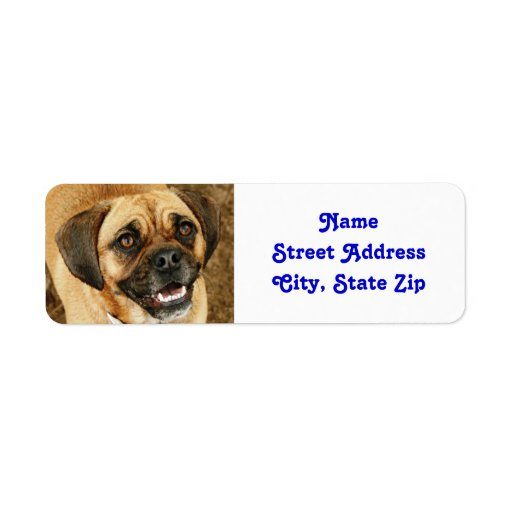 Puggle etiketter returadress etikett