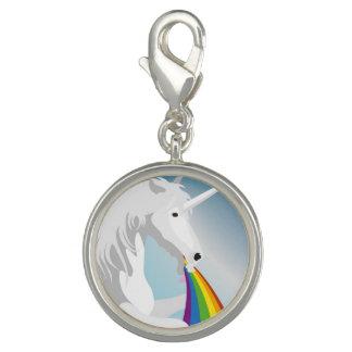 Puking Unicorns för illustration Foto Berlocker