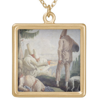 Pulcinella på helgdag guldpläterat halsband