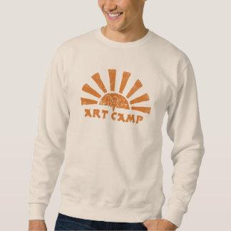 Pullover för konstlägersoluppgång långärmad tröja