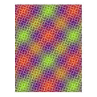 Pulserar neonmönster vykort