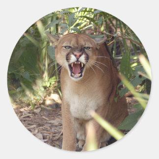 Puma 001 runt klistermärke