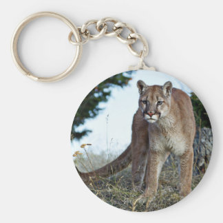 Puma på berg rund nyckelring