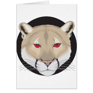 Pumakonst Hälsningskort