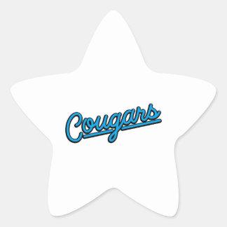 Pumor i cyan stjärnformat klistermärke