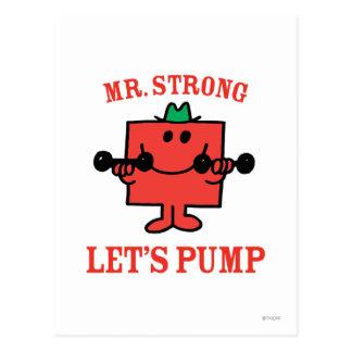 Pumpa järn med starka Herr Vykort