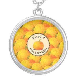 Pumpahappy halloween silverpläterat halsband