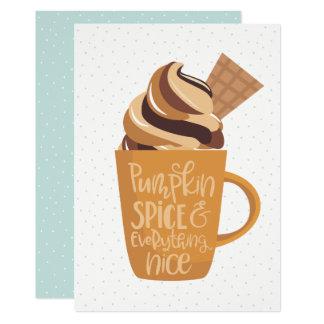 Pumpakrydda & allt trevlig Latte thanksgiving 12,7 X 17,8 Cm Inbjudningskort
