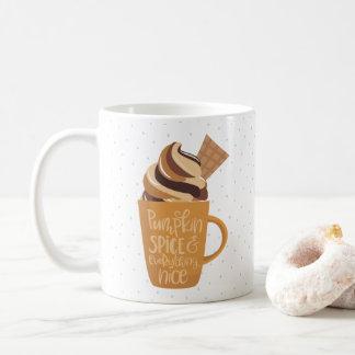 Pumpakrydda och allt trevliga Latte Kaffemugg