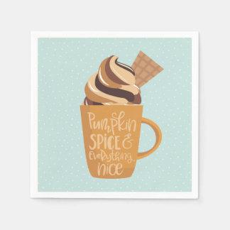Pumpakrydda och allt trevliga Latte servetter