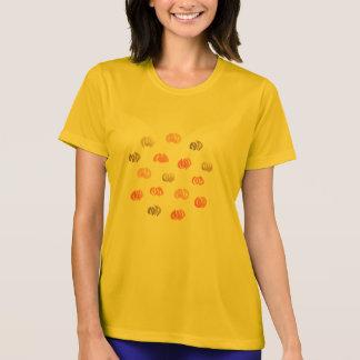 Pumpakvinna T-tröja för kapacitet Tee