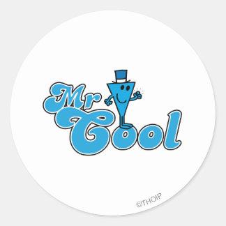Pumpar den lyckliga näven för Herr coola   Runt Klistermärke