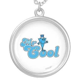 Pumpar den lyckliga näven för Herr coola | Silverpläterat Halsband
