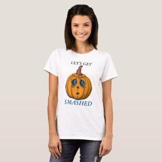 Pumparundaansikte med blåttögat t-shirt