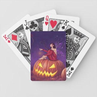 Pumpaskälmskt naturväxenHolloween fe som leker Spelkort