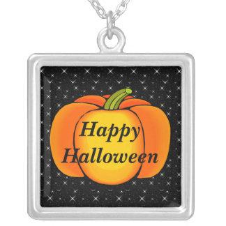 Pumpor Halloween för Starry natt Silverpläterat Halsband