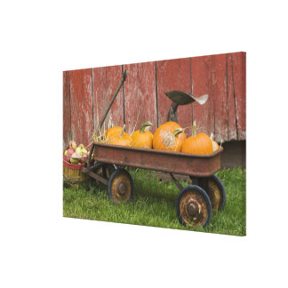 Pumpor i gammal vagn canvastryck