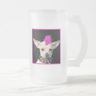 Punk Chihuahuamugg Frostat Ölglas