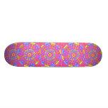 Punk Princess Rosa Mandala Skateboard för skridsko