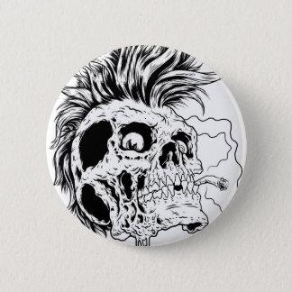 Punkskull knäppas standard knapp rund 5.7 cm