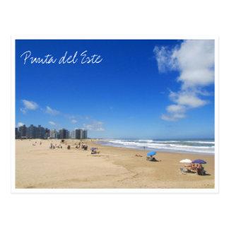 punta del este strand vykort