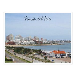 puntastrandtown uruguay vykort