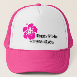 Pura Vida Costa Rica hibiskuslock Keps