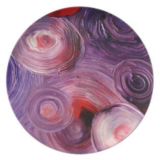 Purpleswirls på en plätera tallrik