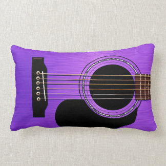 Purpurfärgad akustisk gitarr kuddar