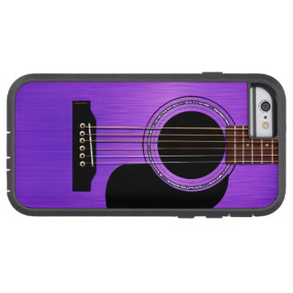 Purpurfärgad akustisk gitarr tough xtreme iPhone 6 case