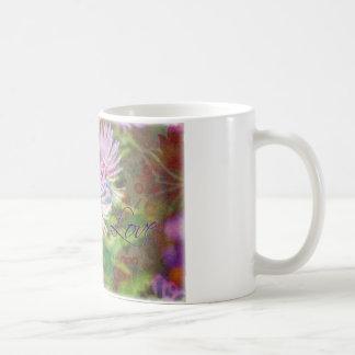 Purpurfärgad Aster Kaffemugg
