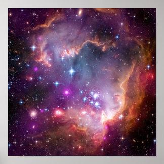 Purpurfärgad astronomi för stjärnagalaxutrymme posters