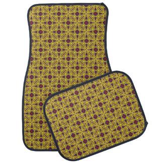 Purpurfärgad bilmattauppsättning för kunglig bilmatta