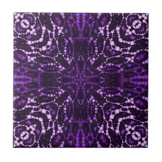 Purpurfärgad Bling abstrakt Kakelplatta