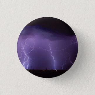 Purpurfärgad blixt i en storm för nattökenåska mini knapp rund 3.2 cm